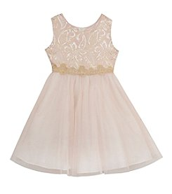 Rare Editions® Girls' 2T-6X Metallic Floral Dress