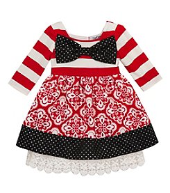 Rare Editions® Girls' 2T-6X Geo Daisies Bow Dress