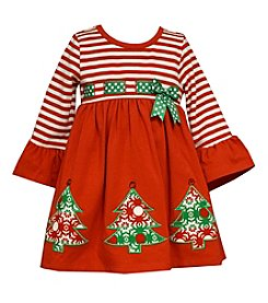 Bonnie Jean® Baby Girls' Christmas Tree Applique Dress