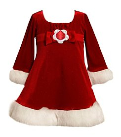 Bonnie Jean® Baby Girls' Sparkle Santa Dress