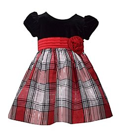 Bonnie Jean® Baby Girls' Metallic Plaid Dress