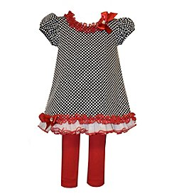 Bonnie Jean® Baby Girls' 2-Piece Dotted Top and Leggings Set