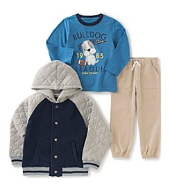 Kids Headquarters® Baby Boys' 3-Piece Bulldog League Jacket Set