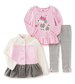 Kids Headquarters® Baby Girls' 3-Piece Poodle Jacket Set