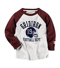 Carter's® Boys' 2T-8 Long Sleeve Gridiron Tee