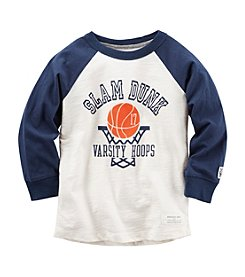 Carter's® Boys' 2T-8 Long Sleeve Slam Dunk Tee