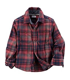 Carter's® Boys' 2T-8 Long Sleeve Flannel Shirt