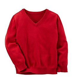 Carter's® Boys' 2T-4T Long Sleeve V-Neck Sweater