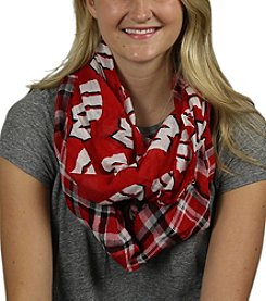 ZooZatZ™ NCAA ® Wisconsin Badgers Women's Tartan Logo Infinity Scarf