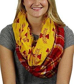 ZooZatZ™ NCAA® Iowa State Cyclones Tartan Women's Logo Infinity Scarf