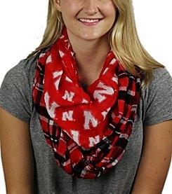ZooZatZ™ NCAA® Nebraska Cornhuskers Women's Tartan Logo Infinity Scarf