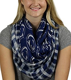 ZooZatZ™ NCAA® Penn State Nittany Lions Women's Tartan Logo Infinity Scarf