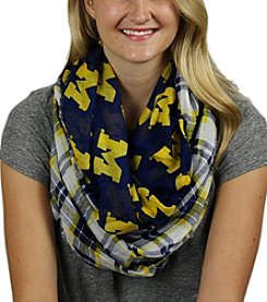 ZooZatZ™ NCAA® Michigan Wolverines Women's Tartan Logo Infinity Scarf