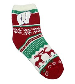 ZooZatZ™ NCAA® Wisconsin Badgers Women's Holiday Socks