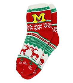 ZooZatZ™ NCAA® Michigan Wolverines Women's Holiday Socks