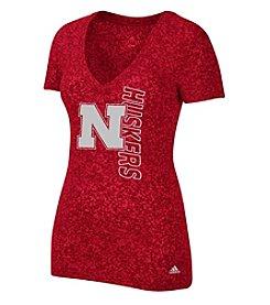 adidas® NCAA® Nebraska Cornhuskers Women's Veritcal Outline Tee