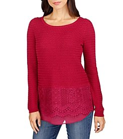 Lucky Brand® Lace Mix Sweater