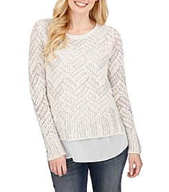 Lucky Brand® Chevron Shine Sweater