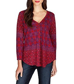 Lucky Brand® Placed Print Top