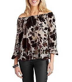 Democracy Drop Waist Flounce Top