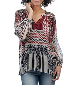 Lucky Brand® Border Printed Blouse