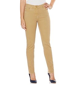 Rafaella® Petites' Denim with Benefits™ Khaki Fashion Straight Leg Jeans