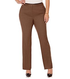 Rafaella® Plus Size Modern Fit Herringbone Pants