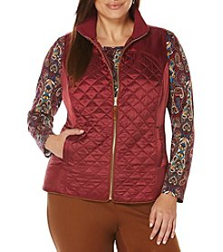 Rafaella® Plus Size Silky Quilted Vest