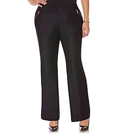 Rafaella® Plus Size Wide Leg Career Pants With Zipper