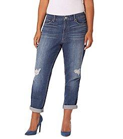 Vintage America Blues™ Plus Size Gratia Distressed Boyfriend Jeans