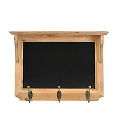 Sheffield Home® Chalkboard Shelf With Three Hooks