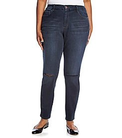 Jessica Simpson Plus Size Dark Wash Curvy High Rise Skinny Jeans