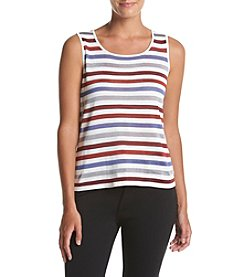 Anne Klein® Stripe Sweater Tank