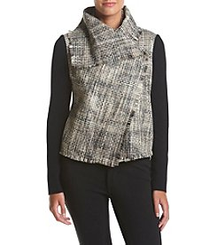 Anne Klein® Asymmetrical Knit Sleeve Jacket