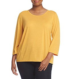 Jones New York® Plus Size Easy Fit Drapeback Top