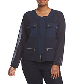 Jones New York® Plus Size Four-Pocket Jackets With Snaps