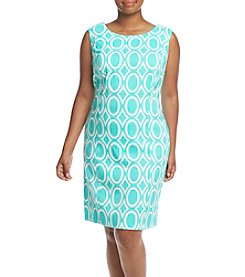 AGB® Plus Size Printed Shift Dress