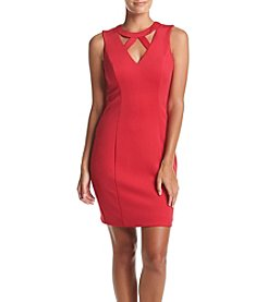 GUESS Cut Out Neck Sheath Dress