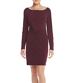 Jessica Simpson Bead Neck Detail Sheath Dress
