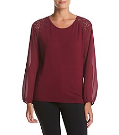 August Silk® Scoop Neck Pullover Sweater