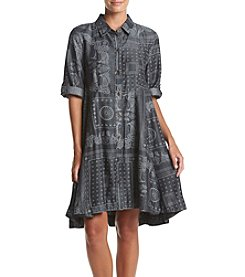 philosophy® Printed Button Up Tencel Dress