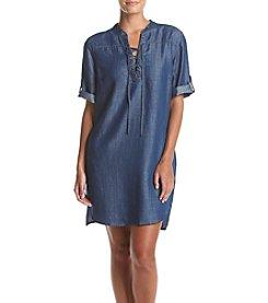 philosophy® Lace-Up Tunic Dress