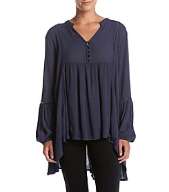 Philosophy by Republic Clothing Solid Bell Sleeve Tunic