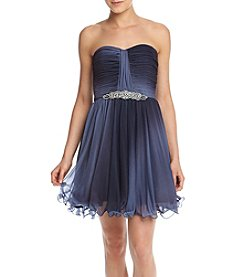 My Michelle® Strapless Ombre Chiffon Party Dress