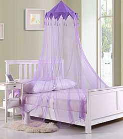 Casablanca Kids Harlequin Collapsible Hoop Sheer Bed Canopy