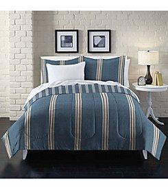 Loft Style® Heathered Stripe Comforter Set