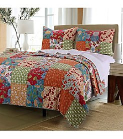 Greenland Home® Terra Blossom Quilt Set
