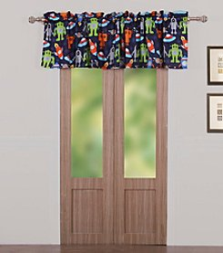 Greenland Home® Robots in Space Window Valance
