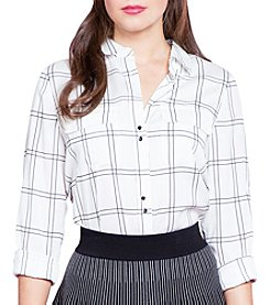 Ivanka Trump® Plaid Blouse