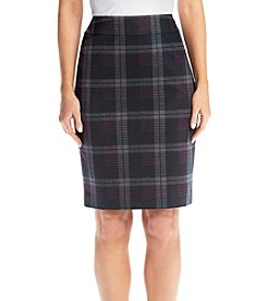 Nine West® Plaid Slim Pencil Skirt